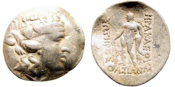 Ancient Coins - Thrace, Islands off. Thasos. After 148 BC. AR Tetradrachm (16.58 gm, 34mm). SNG Copenhagen 1040