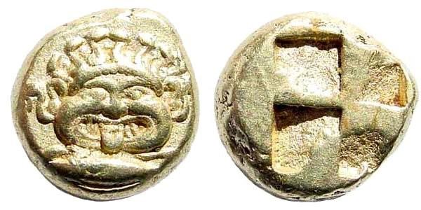 Ancient Coins - Mysia, Kyzikos. Circa 500-450 BC. EL Hekte – 1/6 Stater (2.67 gm, 10mm). Von Fritze I 129. Rare