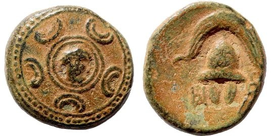 Ancient Coins - Macedonian Kings, Alexander III, The Great, 336-323 BC. AE 17mm (4.46 gm). Mint in South-West Asia Minor, 323-310 BC. SNG Helsinki II, 58
