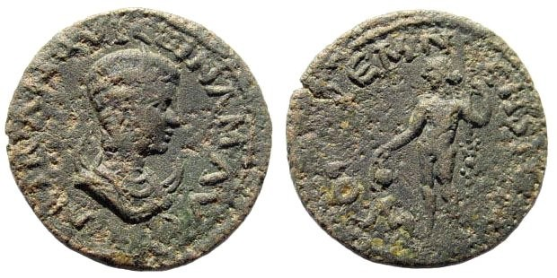 Ancient Coins - Pisidia, Kremna. Tranquillina, wife of Gordian III, 238-244 AD. AE 19mm (3.91 gm). SNG BN Paris 1514