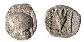 Ancient Coins - Lesbos, uncertain mint, 5th century BC, AR 7 mm (0.24 gm). Unpublished (?). Very rare