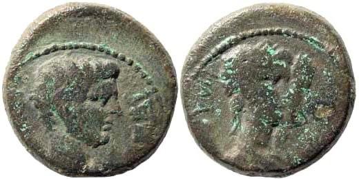 Ancient Coins - Lydia, Philadelphia (Neocasarea). Gaius Caligula. 37-41 AD. AE 16mm (3.90 gm). L[...], philopatris. RPC I, 3024