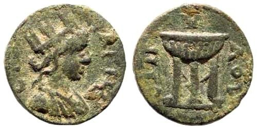 Ancient Coins - Lydia, Magnesia ad Sipylum. 3rd century AD. AE 14mm (2.16 gm). SNG Copenhagen 256