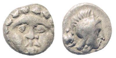 Ancient Coins - Pisidia, Selge. Circa 400-333 BC. AR Obol (0.92 gm, 9mm). SNG Copenhagen 246