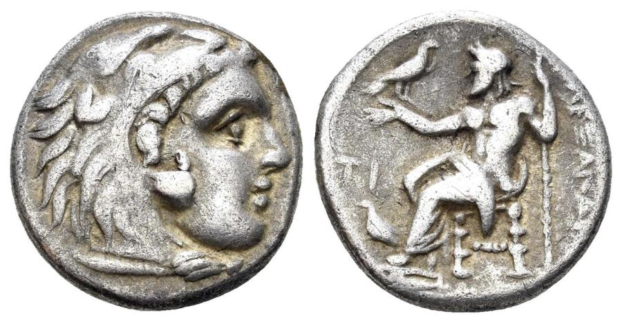 Ancient Coins - Macedonian Kindom. Alexander III 'the Great'. 336-323 BC. AR Drachm (4.18 gm, 17mm). Sardes mint. Price 2617