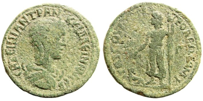 Ancient Coins - Kilikia, Tarsos. Tranquillina, wife of Gordian III. Augusta, 241-244 AD. AE 32mm (16.41 gm). SNG France 1724 (same obv. die)
