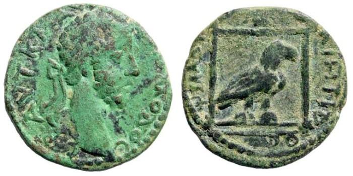 Ancient Coins - Kilikia, Philadelphia. Commodus. 177-192 AD. AE 17mm (8.94 gm). SNG von Aulock 5803.  Rare