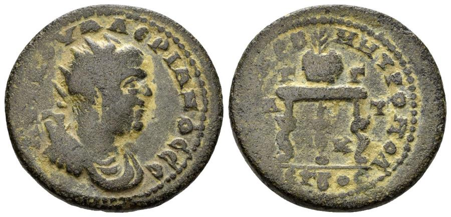 Ancient Coins - Kilikia, Anazarbos. Valerian I. 253-260 AD. AE 26mm (12.88 gm). Dated CY 272 (253-4 AD). Ziegler, Anazarbos, 808 (Vs 1/ Rs 3)