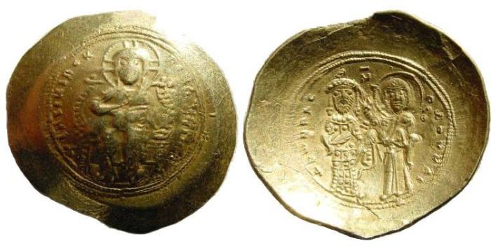 Ancient Coins - Constantine X 1059-1067. AV Histamenon Nomisma (4.28 gm). Constantinople mint. DOC III 2; SB 1848
