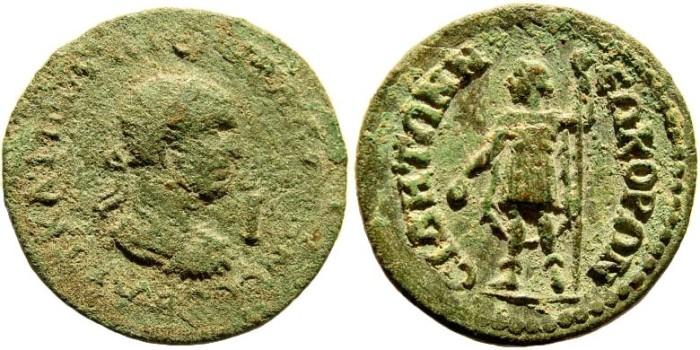 Ancient Coins - Pamphylia, Side. Gallienus, 253-268 AD. AE 29mm/ 10 Assaria (16.26 gm). SNG BN Paris 891