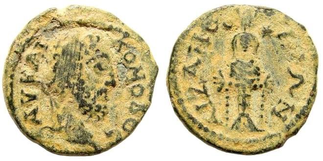 Ancient Coins - Phrygia, Aizanoi. Commodus, 177-192 AD. AE 19mm (3.64 gm). BMC 124 ; SNG München 46 (same dies)