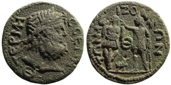 Ancient Coins - Pisidia, Termessos Major, 3rd century AD. AE 30mm (13.76 gm). SNG BN Paris 2212; SNG Copenhagen 334; MartiniNollé 12
