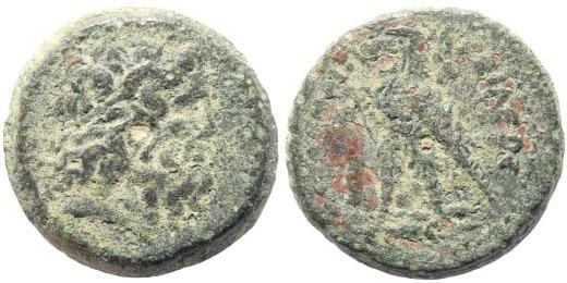 Ancient Coins - Ptolemaic Kingdom. Ptolemy II Philadelphos. 285-246 BC. AE 15mm (2.74 gm). Tyre mint. Struck 249-246 BC. . Svoronos 711; Weiser 58