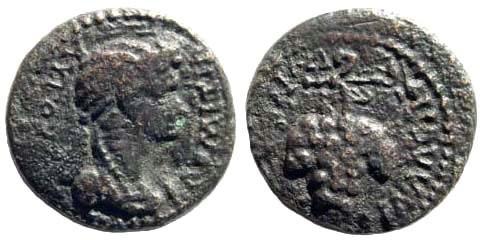 Ancient Coins - Phrygia, Philadelphia. Domitia, 81-96 AD. AE 14mm (2.87 gm). RPC II, 203, 1336; BMC 198, 64; SNG Copenhagen 379