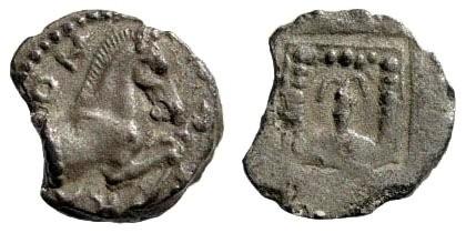 Ancient Coins - Troas, Skepsis. Circa 450 BC. AR Obol (0.82 gm). SNG Tübingen 2659
