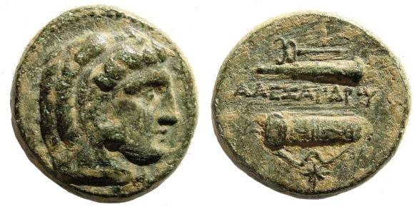 Ancient Coins - Macedonian Kings, Alexander III, The Great, 336-323 BC AE 19 (5.60 gm). Tarsus Mint. Price 3061