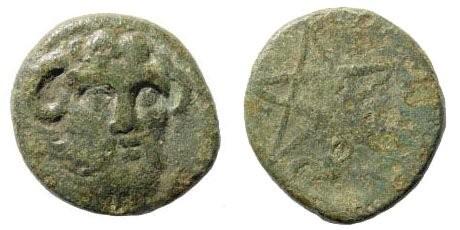 Ancient Coins - Mysia, Pitane. Circa 4th century BC. AE 16mm (3.28 gm). SNG Copenhagen 536; SNG France 2344. Rare
