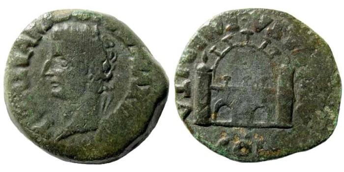 Ancient Coins - Spain, Emerita. Tiberius, 14-37 AD. AE As (12.28 gm, 26mm). RPC I 42; SNG Copenhagen 410