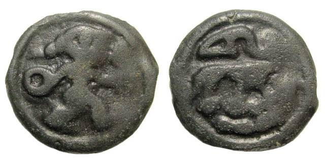 Ancient Coins - Gallia Belgica (from the Seine to the Rhine), the Remi. Cast Potin (5.52 gm, 12h, 21mm), ca. 100-60 BC. BMC 501 ff. DLT 8124. DT 155. Scheers 191