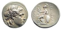 Ancient Coins - Thracian Kingdom. Lysimachos. 305-281 BC. AR Tetradrachm (17.12 gm, 29mm). Amphipolis mint. Struck circa 288-281 BC. Thompson 212