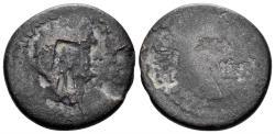 Ancient Coins - Judaea, Judaea Capta. Domitian. 81-96 AD. AE 23mm (7.98 gm). Caesarea Maritima mint. RPC II 2308 for countermark: Howgego 133