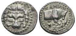 Ancient Coins - Ionia. Islands off. Samos circa 200 BC. AR Tetrobol (2.80 gm, 17mm). BMC 180-183; SNG Copenhagen 1713