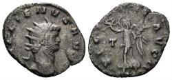 Ancient Coins - Gallienus, 253-268 AD. AE Silvered Antoninianus (2.34 gm, 21mm). Rome mint. MIR 358e