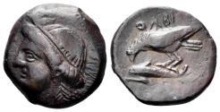 Ancient Coins - Skythia, Olbia. Circa 400- 350 BC. AE 17mm (3.73 gm). SNG BM Black Sea 402