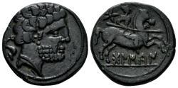 Ancient Coins - Spain, Bolskan (Osca). Circa 150-100 BC. AE Unit (10.35 gm, 24mm). SNG BM Spain 734