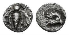 Ancient Coins - Ionia, Ephesos. Circa 500-420 BC. AR Tetartemorion (0.19 gm, 6mm). SNG Kayhan 126