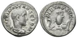Ancient Coins - Maximus. Caesar, 235-238 AD. AR Denarius (3.30 gm, 20mm). Rome mint. Late 236-237 AD. RIC IV 2