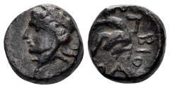 Ancient Coins - Skythia, Olbia. Circa 360-350 BC. AE 12mm (2.37 gm). cf. HGC 3.2, 1908 (same). Very rare
