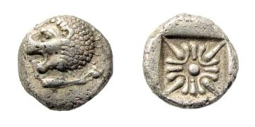 Ancient Coins - Ionia, Miletos, Late 6th- early 4th century BC, 1/12th Stater (1.04 gm, 9mm). SNG Helsinki II 277