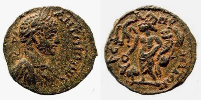 Ancient Coins - Seleukia/ Pieria, Elagabalus, 218-222 AD, AE 24.4 mm (8.13 gm.). SNG München 959