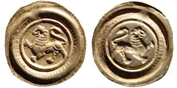 Ancient Coins - Braunschweig-Lüneburg, Dukedom, Henry the Lion, duke of Saxony, 1142-1195. AR Brakteat (0.60 gm.). Lüneburg mint. Berger 629