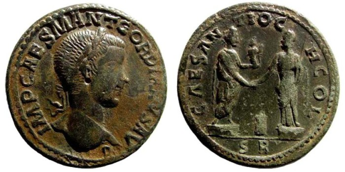 Ancient Coins - Pisidia, Antiocheia. Gordian III, 238-244 AD. AE 34mm (25.02 gm). SNG France 1202