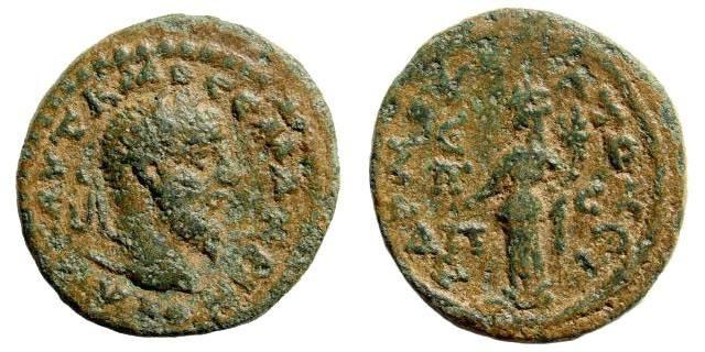 Ancient Coins - Cilicia, Mopsos-Mopsouestia. Macrinus, 217-218 AD. AE 22mm (7.42 gm). Year 285 = 217/18). BMC Cilicia, pg. 107, 20. Rare