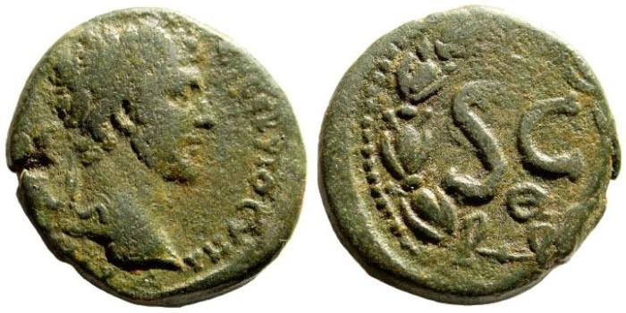 Ancient Coins - Syria, Seleucis and Pieria. Antioch. Marcus Aurelius, Caeasar, 139-161 AD. AE 23mm (9.95 gm). McAlee 582b (extremely rare)