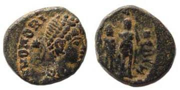 Ancient Coins - Honorius, 393-423 AD, AE 4
