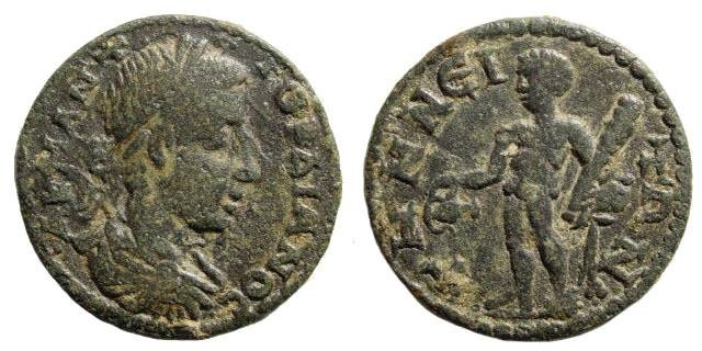 Ancient Coins - Aeolis, Temnos. Gordian III, 238-244 AD. AE 22mm (4.17 gm). SNG Tübingen 635. Rare