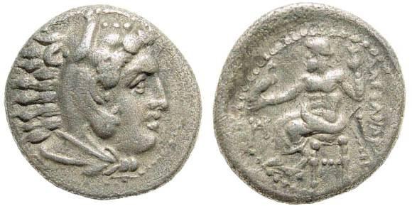 Ancient Coins - Macedonian Kingdom, Alexander III, 336-323 BC, AR Drachm (4.09 gm, 18mm). Miletos, 325-323 BC. Price 2090