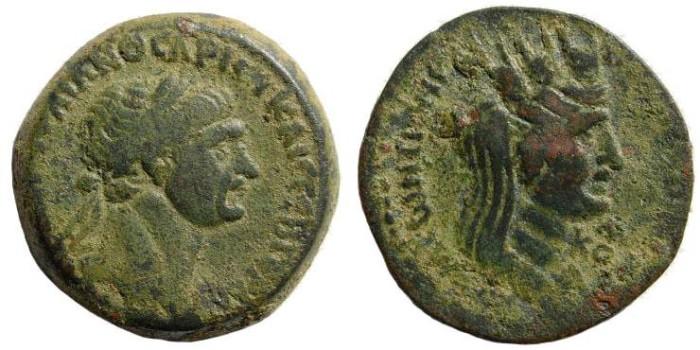 Ancient Coins - Syria, Seleucis and Pieria. Laodiceia ad Mare. Trajan. 98-117 AD. AE 26mm (10.82 gm). Year 163 (115/6 AD). BMC Galatia, etc. pg. 253, 48-52