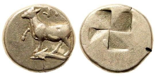 Ancient Coins - Thrace, Byzantium ca. 416-357 BC, AR Siglos (5.33 gm, 17mm). SNG Copenhagen 475