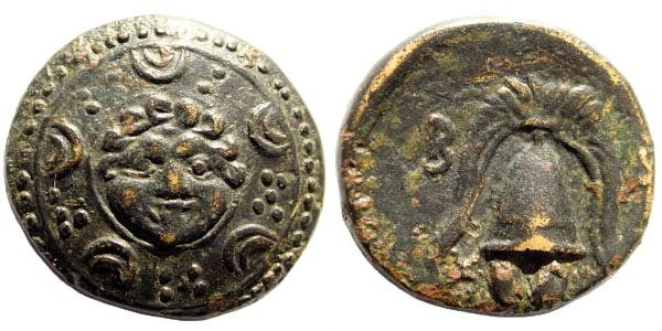 Ancient Coins - Macedonian Kings, Alexander III, The Great, 336-323 BC. AE 17mm (4.4 gm). Salamis 323-315 BC. Price 3158