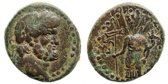 Ancient Coins - Phoenicia, Dora, dated 67/68 AD, AE 23.6mm (10.09 gm). BMC 5/6