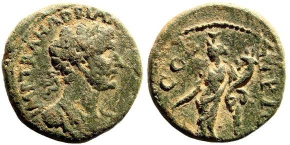 Ancient Coins - Phoenicia, Ake-Ptolemais. Hadrian, 117-138 AD. AE 20mm (6.33 gm). Kadman 107; Rosenberger I p. 26, 49