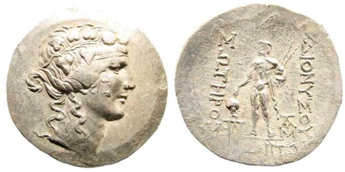Ancient Coins - Thrace, Maroneia. Circa 189 - 45 BC. AR Tetradrachm (15.82 gm, 35mm). Schönert-Geiss, S. 188, 1063 (V 28/R 82)
