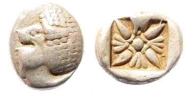 Ancient Coins - Ionia, Miletos, Late 6th- early 4th century BC, 1/12th Stater (1.10 gm, 10mm). BMC 14.185,14