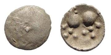Ancient Coins - Celtic, Noricum, Eastnoricum. Karlstein Type. 2nd century BC. AR 8mm (0.38 gm). Dembski 945; Kostial 97 299