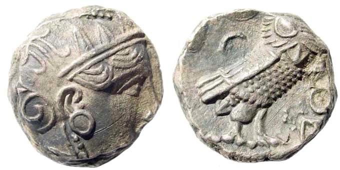 Ancient Coins - Attica, Athens. Circa 337-294 BC. AR Tetradrachm (16.80 gm, 21mm). Svoronos pl. 20